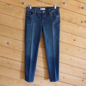 Free People Blue Dark Wash Slim Skinny Jeans 27